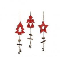 Украшение декоративное, Подвеска новогодняя, Звезда, в асс. 32 см, House of Seasons