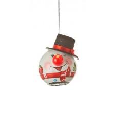 Украшение декоративное Шар LED Снеговик 6,5 см, House of Seasons в асс., красный
