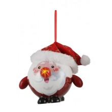 Украшение декоративное Шар Новогодний LED, 8 см, House of Seasons, Санта золотой