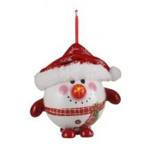 Украшение декоративное Шар Новогодний LED, 8 см, House of Seasons, Снеговик
