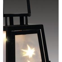 Фонарь 25 см, черный, голограф. эффект, метал