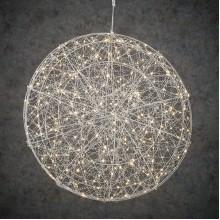 Шар декоративный серебро, 60 см, 320 led, мерцающий,