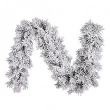 Гирлянда 270 см. декоративная Dinsmore Frosted зеленая со снегом