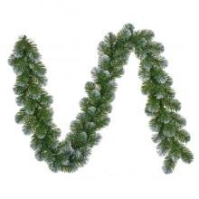 Гирлянда 180 см. декоративная Norton зеленая с инеем, Black Box Trees®