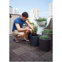Набор горшков для цветов Cylinder Planter Set, серый
