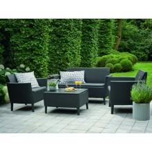 Набор мебели, Salemo set, графит - прохладный серый