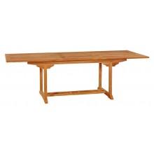 Тиковый стол раскладной прямоугольный TE-180T
