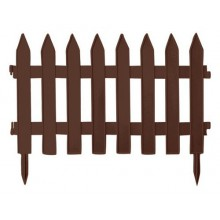 Садовое ограждение GARDEN CLASSIC - коричневый, 3,6 м