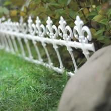 Садовое ограждение GARDEN - белый, 3,7 м