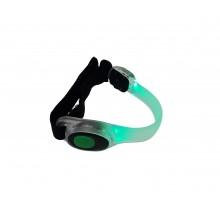 Клипса-отражатель LiveUp Led Safety Shoes Lights Зеленая (LS3408)