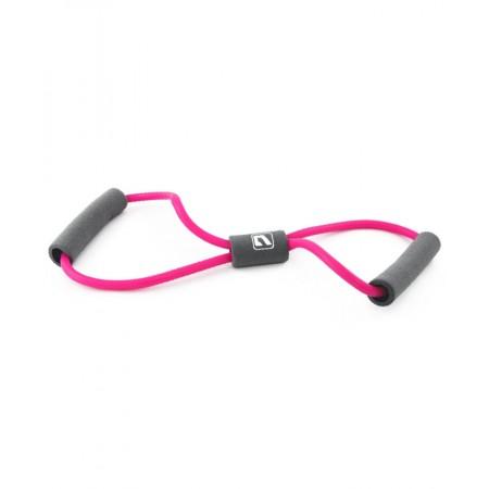 Эспандер восьмерка LiveUp Soft Expander 0.6x0.9х120 см L Pink-Grey (LS3202-Lp)
