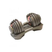 Гантель наборная LiveUp Adjustable Dumbbell 2.3-41 кг Grey (LS2315-41)