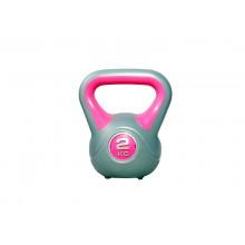 Гиря LiveUp Plastic Kettel Bell 2 кг Grey/Pink (LS2047-2)
