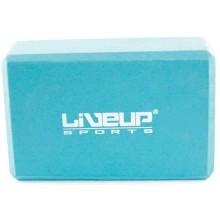 Блок для йоги LiveUp EVA Brick Blue (LS3233A-b)