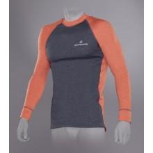 Футболка Tramp Outdoor Tracking Man с длинным рукавом мужская М серый/оранжевый
