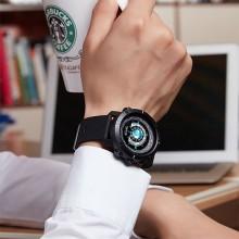 Часы, смарт-браслет Skmei W30, черные, в металлическом боксе