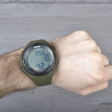 Часы, фитнес-трекер Skmei 1122, армейский зеленый, в металлическом боксе