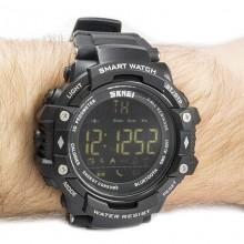 Часы, смарт-браслет Skmei 1226, черные, в металлическом боксе