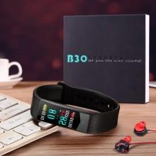 Часы, смарт-браслет Skmei B30, черные, в металлическом боксе