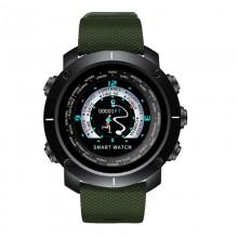 Часы, смарт-браслет Skmei W30, черный-зелёный, в металлическом боксе